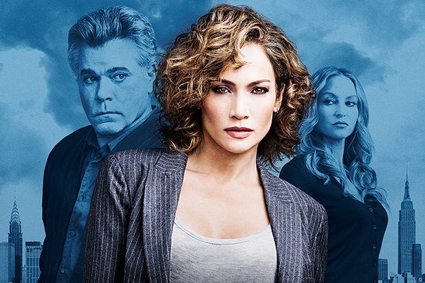 JLO shades of blue poster